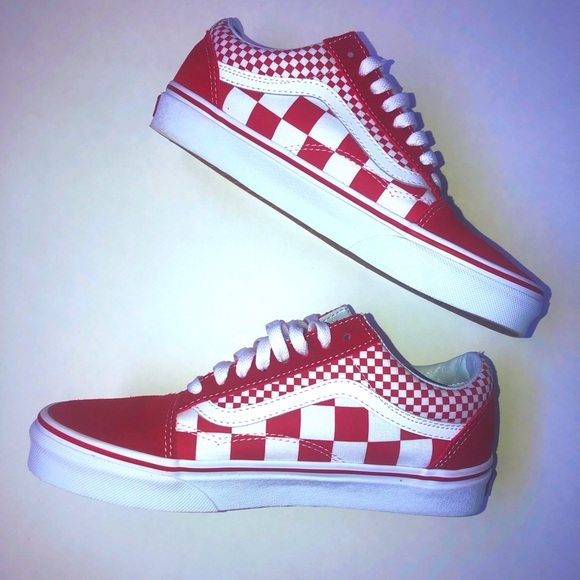 Iconic Red Double Checkerboard Vans
